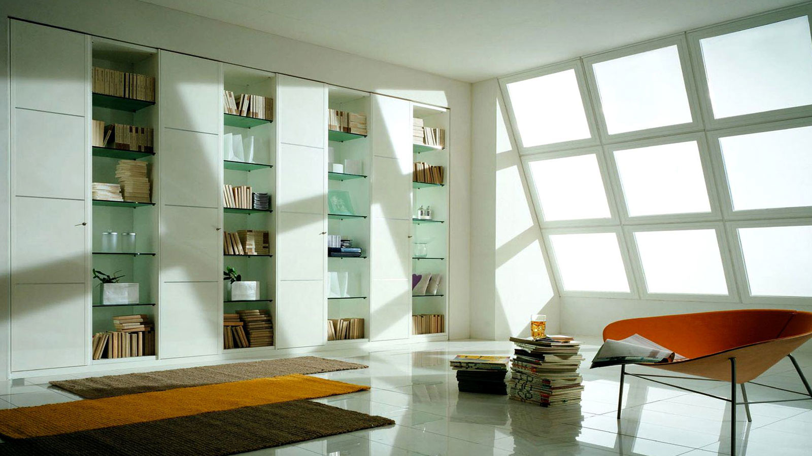 Library unit in office
