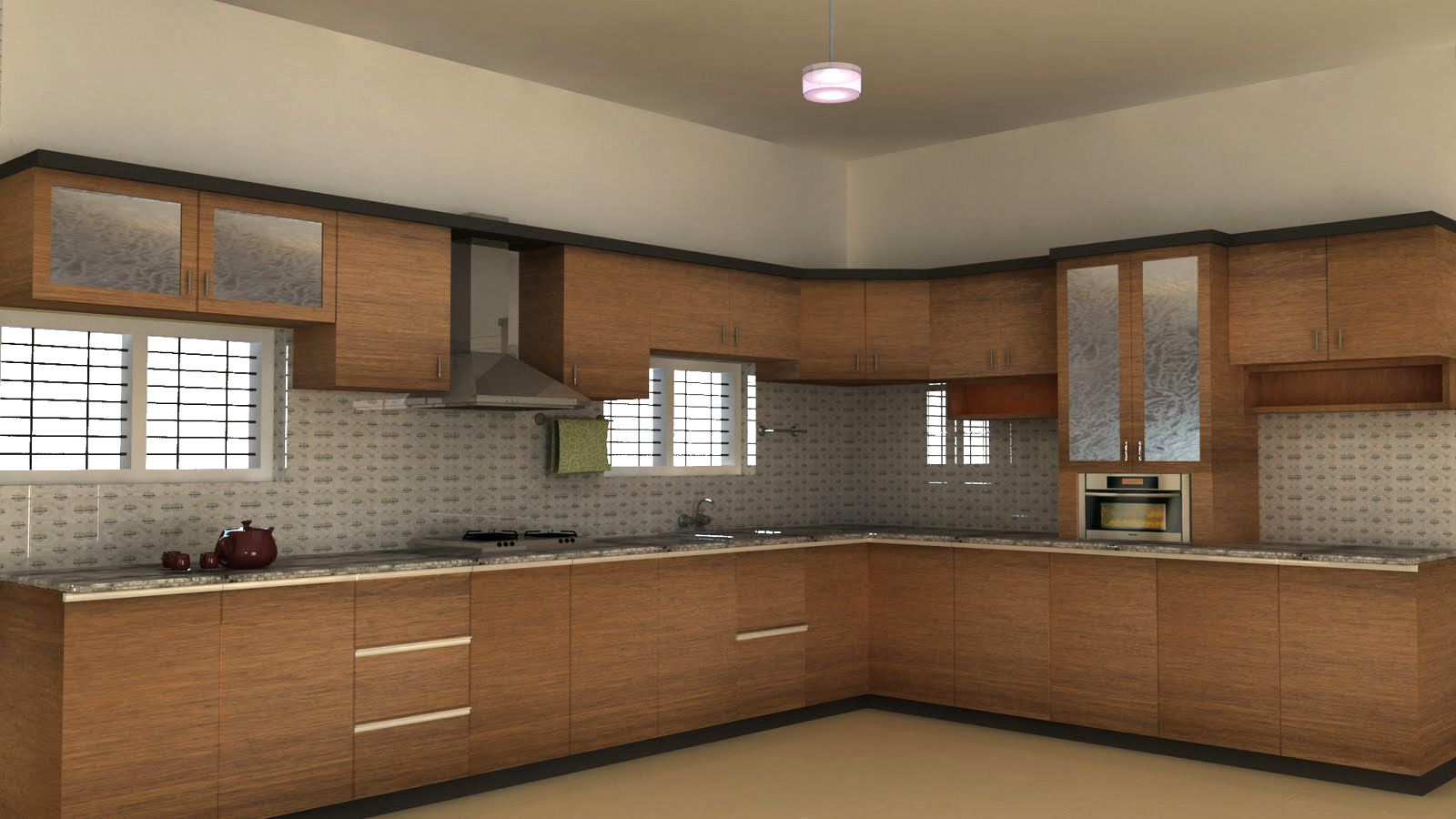 Modern kitchen Loft shutters in porur,chennai